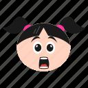 astonished, emoji, girl, hushed, shocked, surprised, women