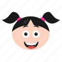 cat, emoji, emoticon, face, girl, kitten, women
