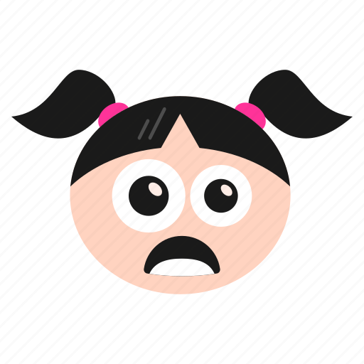 Girl, mouth, open, shocked, surprised, women, wondered icon - Download on Iconfinder