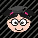 academiccap, degree, emoji, girl, graduation, student, women