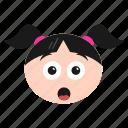 emoji, emoticon, eyes, girl, greedy, happy, women icon