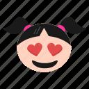 feeling, happy, in, love, loved, smiley, valentine icon