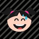 emoji, face, girl, laughing, smile, tears, women