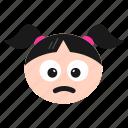 depressed, emoji, frowning, girl, sad, unamused, women