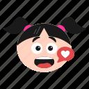 bubble, chat, chatting, emoji, girl, smiley, women