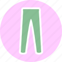 clothes, clothing, fashion, leggings icon