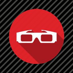 cinemal, eye, eyesight, film, glasses, media, movie, multimedia, video icon