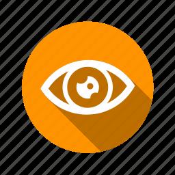 eye, eyeball, retina, see, view icon