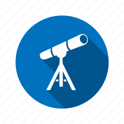 observe, planet, telescope, view, zoom icon