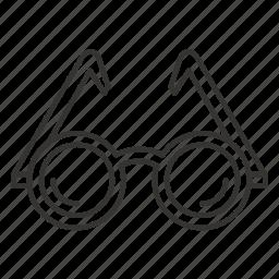 eyeglass, eyeglasses, glass, glasses icon
