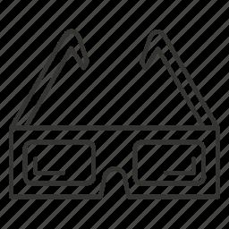 cinema, dimensional, eyeglass, eyeglasses, glass, glasses icon