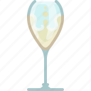 bar, celebration, champagne, drink, glass, new year, yumminky icon