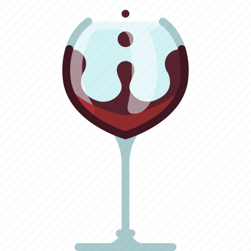 alcohol, bar, drink, glass, pouring, wine, yumminky icon