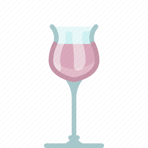 bar, drink, glass, pink, rose, wine, yumminky icon