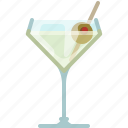 alcohol, bar, drink, glass, martini, night club, yumminky icon