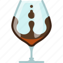 alcohol, bar, brandy, cognac, drink, glass, yumminky icon