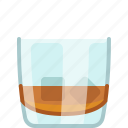 alcohol, drink, glass, ice, night club, whiskey, yumminky icon