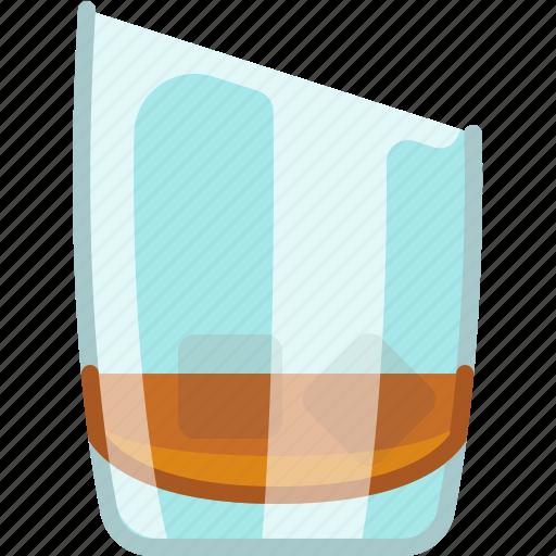 alcohol, drink, glass, ice, night club, whiskey, yumminky icon