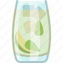 alcohol, bar, drink, glass, kitchen, mojito, yumminky icon