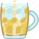 beer, drink, glass, mug, pub, tavern, yumminky icon
