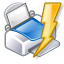 lightning, power, print, quick icon