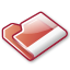 folder, red icon