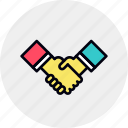business, collaboration, cooperation, deal, handshake, partners, partnership icon