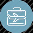 airplane, bag, business, global, international, travel, world