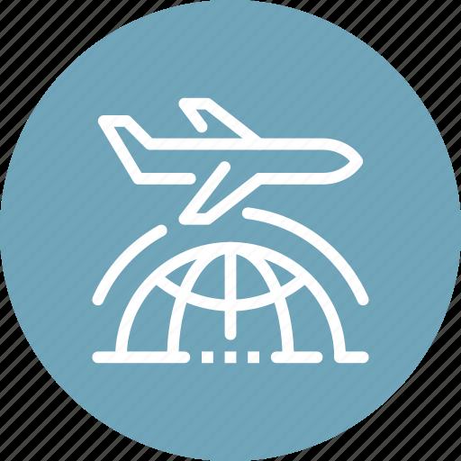 airplane, business, global, international, location, travel, world icon