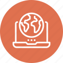 computer, global, international, internet, laptop, online, technology icon