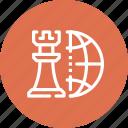 chess, global, international, piece, plan, strategy, world icon
