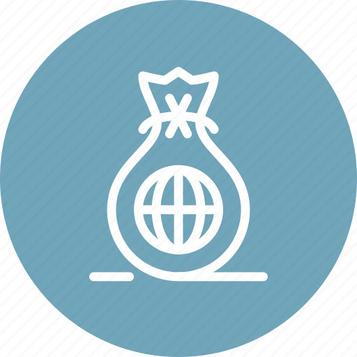 bag, business, finance, global, investment, money, sack icon