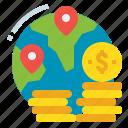 business, finance, fund, global, money icon