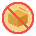 business, embargo, export, import, product icon