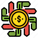 business, choose, decision, direction, money icon