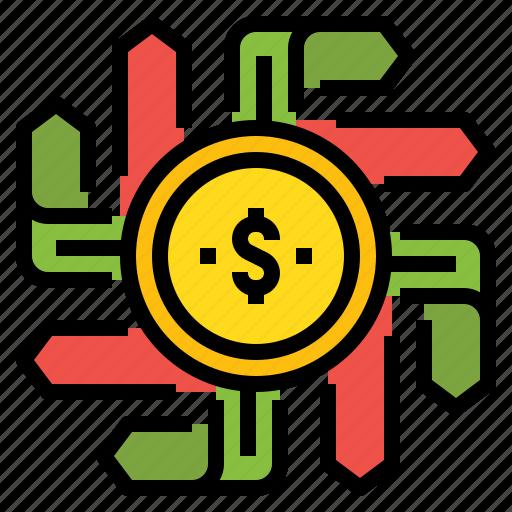 business, choose, decision, direction, money icon