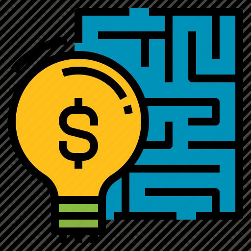 business, finance, goal, idea, solution icon