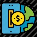 global, money, online, transaction, transfer icon