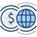 currency, finance, global, money, payment, transactions, world icon