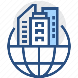building, business, company, corporation, global, headquarter, organization icon