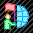 choice, earth, flag, global, hold, human, place