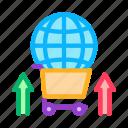 cart, global, international, market, partnership, selling, sphere