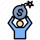 liability, stress, bomb, money, loan, debt, financial