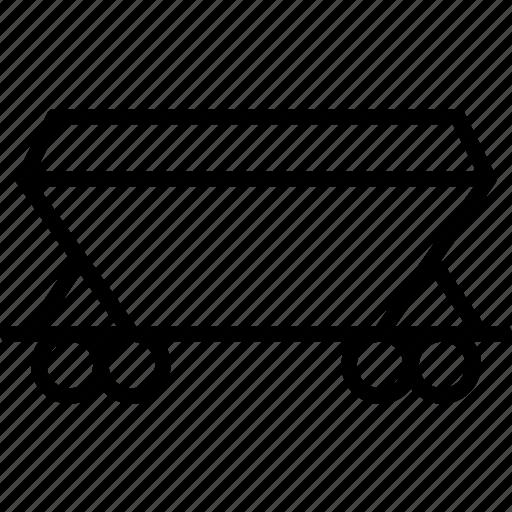 cargo, carriage, railroad, railway, train, transport, transportation icon