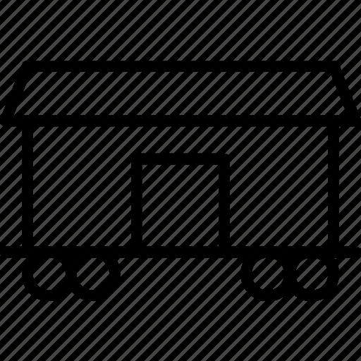 cargo, door, logistics, railroad, train, transport icon