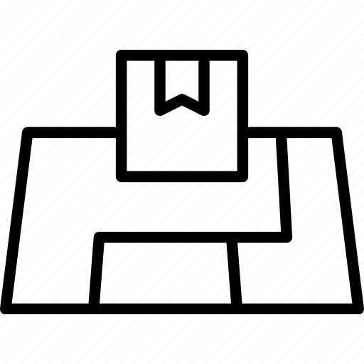 delivery, loaction, mail, map, package, shipping icon