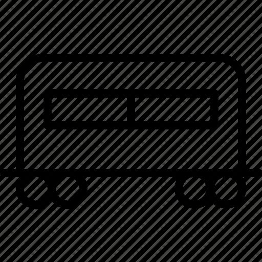 carriage, passenger, railroad, train, transport, travel icon