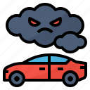 automobile, carbon, monoxide, pollution icon