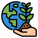 ecology, green, growth, plant icon