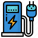 charger, electric, station, vehicle icon